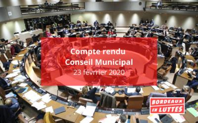 Compte rendu du Conseil Municipal du 23 février 2021.