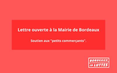 """Lettre ouverte en soutien aux """"petits commerçants""""."""